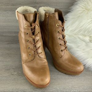 Michael Kors Ankle Leather Boots Size 9M